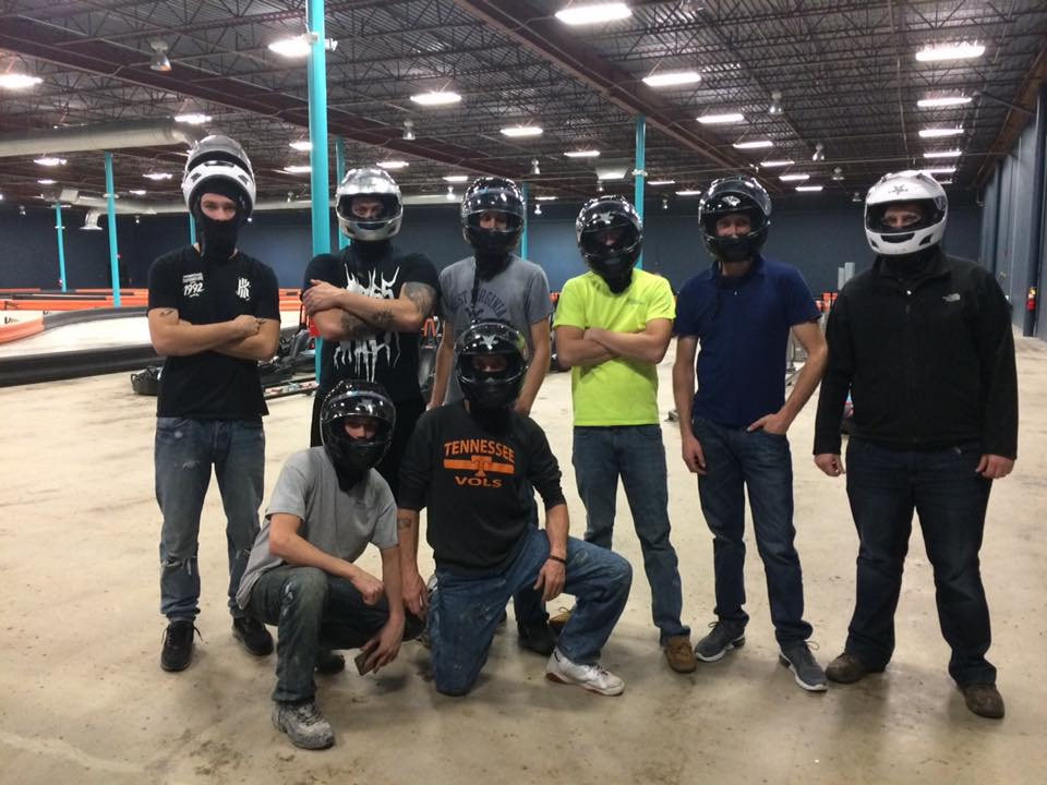 corporate event, indoor go kart speedway